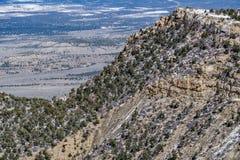 Ландшафт снега зимы горы пустыни национального парка verde мезы Стоковая Фотография RF