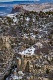 Ландшафт снега зимы горы пустыни национального парка verde мезы Стоковые Фото