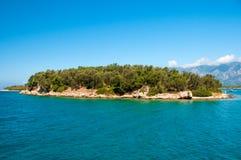 Ландшафт Средиземного моря Горы и море Турции Стоковое Изображение