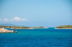 Ландшафт Средиземного моря Горы и море Турции Стоковое Изображение RF