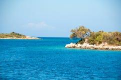 Ландшафт Средиземного моря Горы и море Турции Стоковое Фото