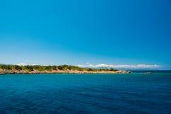 Ландшафт Средиземного моря Горы и море Турции Стоковые Фото