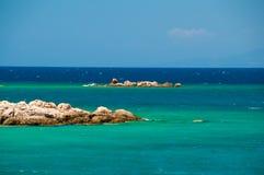 Ландшафт Средиземного моря Горы и море Турции Стоковая Фотография RF