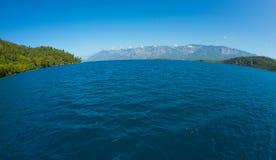 Ландшафт Средиземного моря Горы и море Турции Стоковое фото RF
