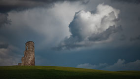 Ландшафт старой воинской башни мнимый Стоковое Изображение