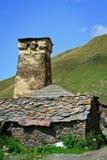 Ландшафт страны в Svaneti Стоковое Изображение RF