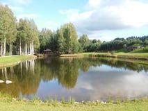 Ландшафт страны около eikiai ¾ MaÅ в Литве Стоковые Фотографии RF