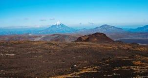Ландшафт с вулканом Стоковое Изображение