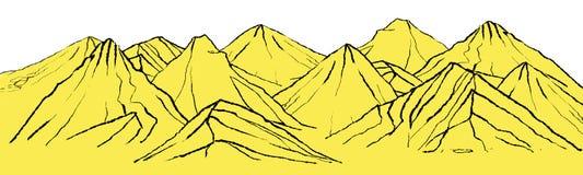 Ландшафт с горами Стоковая Фотография RF