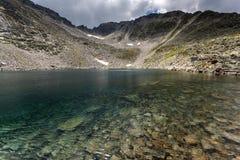Ландшафт с горой, Ledenoto & x28 Rila; Ice& x29; озеро и пик Musala Стоковое Фото