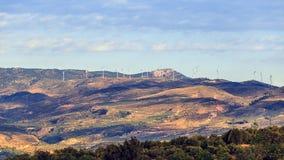Ландшафт с группой в составе ветрянки Стоковое Изображение RF