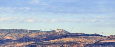 Ландшафт с группой в составе ветрянки Стоковые Изображения