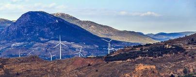 Ландшафт с группой в составе ветрянки Стоковые Изображения RF