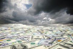 Ландшафт с деньгами Стоковые Фото