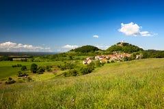 Ландшафт с замком Leuchtenburg Стоковые Изображения RF