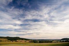 Ландшафт с замком Leuchtenburg Стоковые Фото