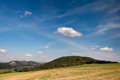 Ландшафт с замком Leuchtenburg Стоковая Фотография