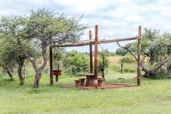 Ландшафт с зоной пикника Стоковое Изображение RF