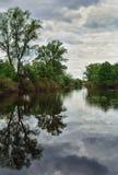 Ландшафт с изображением стороны реки стоковая фотография