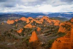 Ландшафт с красивыми и уникально красными горными породами на мамах Las Стоковые Фотографии RF