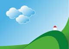 Ландшафт с молельней Стоковое Изображение RF