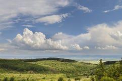 Ландшафт с облаками стоковые изображения