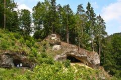 Ландшафт с пещерой Стоковое фото RF
