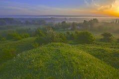 Ландшафт с рассветом Стоковое Изображение RF