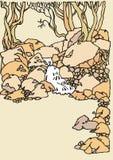 Ландшафт с рекой и деревьями Стоковая Фотография