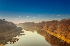Ландшафт с рекой Стоковое Изображение RF