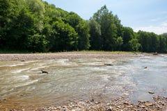 Ландшафт с рекой Стоковое Изображение