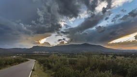 Ландшафт с солнечными произношениями по буквам Стоковые Фото