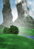 Ландшафт с 2 столбцами Стоковая Фотография