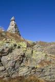 Ландшафт с тотемом камня Стоковое фото RF