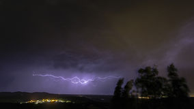 Ландшафт с штормом Стоковая Фотография RF