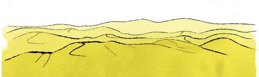 Ландшафт с дюнами Стоковые Изображения