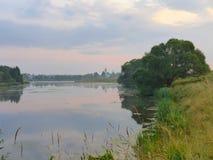 Ландшафт с chirch Стоковая Фотография RF