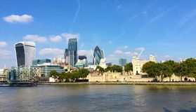 Ландшафт Темзы Лондона реки Стоковые Фото