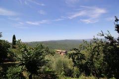 Ландшафт Тосканы, Италии Стоковое Изображение RF