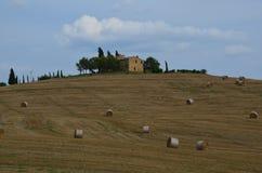 Ландшафт Тосканы, dOrcia Val, Италия Стоковые Изображения