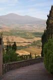 Ландшафт Тосканы. Pienza, Италия стоковое фото rf