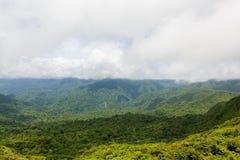 Ландшафт тропического леса в Monteverde Коста-Рика Стоковая Фотография