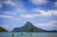 Ландшафт тропического моря в Palawan, Филиппинах Стоковое Фото