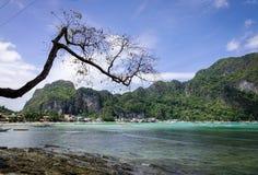 Ландшафт тропического моря в Palawan, Филиппинах Стоковые Изображения