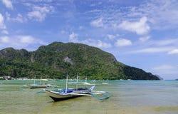 Ландшафт тропического моря в Palawan, Филиппинах Стоковая Фотография