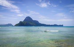 Ландшафт тропического моря в Palawan, Филиппинах Стоковое Изображение RF