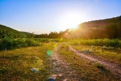 Ландшафт утра, на зоре Стоковое фото RF