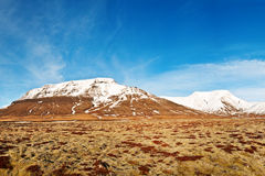Ландшафт фьорда осени, захваченный в Исландии стоковое изображение