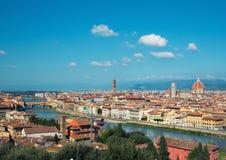 Ландшафт Флоренса, Италии стоковые изображения rf