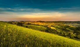 Ландшафт холма Стоковые Изображения